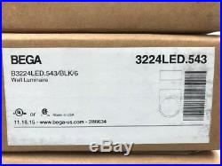 BEGA Wall Luminaire B3224LED. 543/BLK/6 and Back Boxes B543