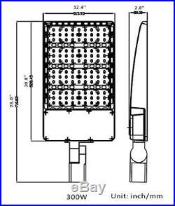 Baseball field LED Street Light 300Watt Replace 1500W Shoebox Parking Lot Light