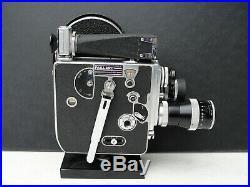 Bolex 16 mm Filmkamera Modell H 16 mit 3 Kernobjektiven 15(!)mm, 25mm und 75 mm