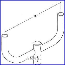 Bullhorn Bracket for Outdoor Flood Lights Parking Lot Pole Lighting Tenon 2 3/8