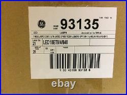 CASE of 25 GE 4ft LED Tube Lamp LED18ET8/4/840 T8 18W 4000K 93135 Retrofit