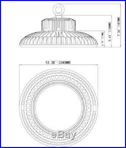 CUL 150W UFO LED High Bay Lighting Replace 400Watt MH Gym Workshop Light 5000K