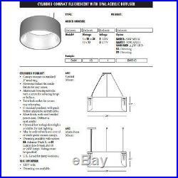 Commercial Modern Pendant Light 4-PCS Delray Cylindro Lamp 24-in. 120V