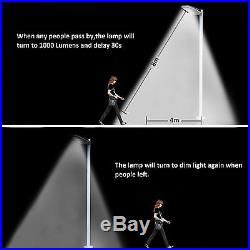 Commercial Solar Street Lights IP65 Motion Sensor Garden Night Light 1000LM 4PCS