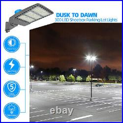 Commercial Street Light Dusk to Dawn 39000LM LED Security Area Parking Lot Lamp