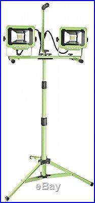 Construction Lighting Floor Standing Dual-Head LED Work Light +Tripod Jobsite