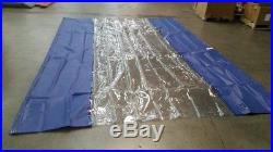 Curtain wall for body shop, manufacturing or warehouse work space separation, du