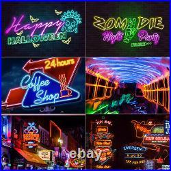 DC12V Neon LED Rope Light Waterproof Flex Strip Commercial Boat Bar Sign Decor
