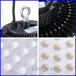 DELight 4 Pack 100W UFO IP65 High Bay LED Light 12000lm 6500K Commercial Lamp
