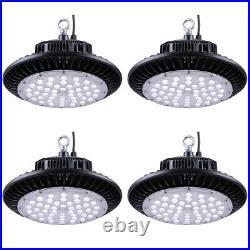 DELight 4 Pack 150W UFO IP65 High Bay LED Light 18000lm 6500K Factory Lighting