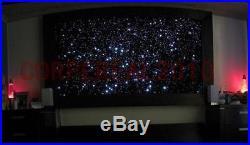 DIY Fiber Optic starfield Ceiling lamp kit 16w led illuminator & 200pcs fiber