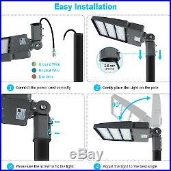 DLC 240WATTS LED Shoebox Pole Lights Replace 1000W MH Tennis Court Light 5700K