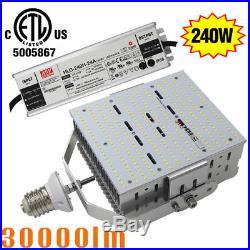 DLC LED Parking Lot Retrofit Kit 240W Replace 1000Watt Canopy Shoebox Light E39