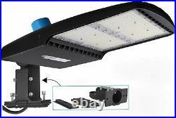 Dephen 300W LED Parking Lot Light with Photocell, UL-Listed 42000Lm 5700K Led Sh