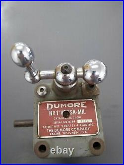 Dumore Versa-Mil No 1 Portable Machining
