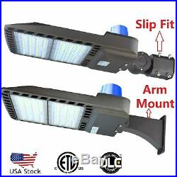 Dusk to Dawn Commercial LED Parking Lot Light with Photocell Flood Shoebox Lamp