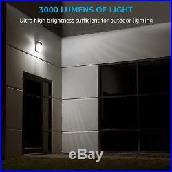 Dusk to Dawn Mini LED Wall Pack with Photocell, 3000lm, ETL & DLC Listed