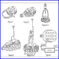 E39 150W Led Retrofit Kits Replace for 300-500W MH/HPS Parking Lot Shoebox Light