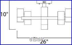ET2 E31200-75PC 9-Light 26W Flush Mount Ceiling Light, Nova Collection