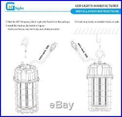 ETL 125Watt Temporary High Bay LED Luminaire Plug-in portable Work Light 5000K