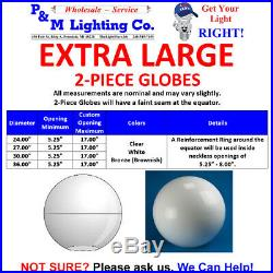 EXTRA LARGE 24 LIGHT GLOBE ACRYLIC USA MADE SPHERE REPLACEMENT Plastic COVER