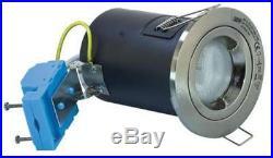 Fixed Ceiling Downlight GU10 Satin Chrome Stainless Steel Spot Down Light 240V