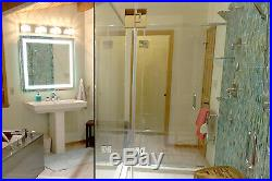 Front-Lighted LED Bathroom Vanity Mirror 48W x 48T Rectangular Wall-Mount