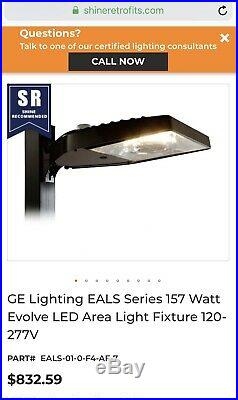GE Evolve Led Area Light withshorting cap 93105758 Parking Lot Light
