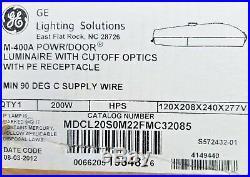 GE M-400A Light Roadway Fixture Street Luminaire HPS 200W 120/208/240/277V