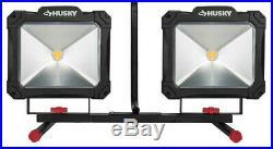 Husky 10,000-Lumen Twin-Head Integrated LED Work Light, K40189