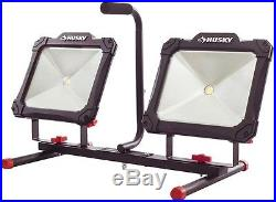Husky 7000 Lumen LED Worklight Work Light Jobsite Job Site Flood Stand Corded