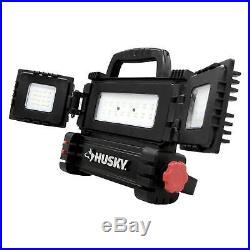Husky LED Work Light Multi Directional 5 Ft 3200 Lumen Tripod Shop Garage Mobile