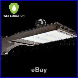 Hykolity 185W LED Parking Lot Light LED Shoebox Fixture 22200lm 5000k Outdoor