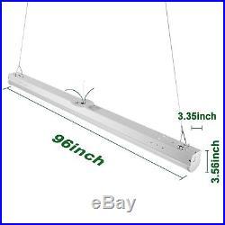 Hykolity 8' 64W LED Light Fixture Commercial Shop Light 8350lm 5000K -Pack of 4