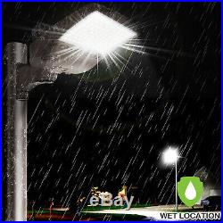 Hykolity LED Parking Lot Light 300W Shoebox Street Pole Light Arm Mount DLC
