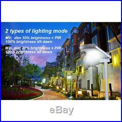 IP68 Commercial Solar Street Light 1000LM Outdoor Motion Sensor Security Lights
