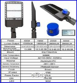 JESLED LED Parking Lot Light 100W300W Street Light 5000K IP65 Slip Fit Mount