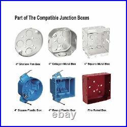 JULLISON 20 Packs 6 Inch LED Low Profile Recessed & Surface Mount Disk Light