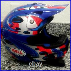 Jeremy mcgrath bell moto 7 replica helmet very rare please read description