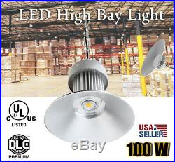 LED 100W High Bay Warehouse Light Bright White Fixture Factory 250W Equivalent
