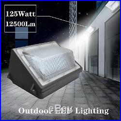 LED 125W Wall Pack Outdoor Lighting, 5500K, 12500lm, HIGHEST Quality, Wall Light