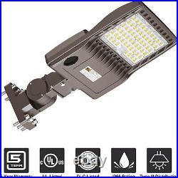 LED Area Light Shoebox 200 Watt Outdoor Parking Lot Lights IP65 Waterproof 5000K