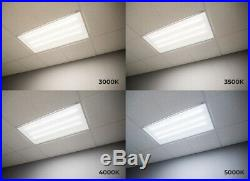 LED Backlit 2X2 Flat Panel Drop Ceiling Light Down Fixture 30W 6000K (4 Pack)