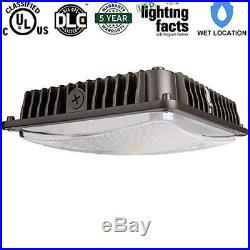 LED Canopy Parking Garage Light Gas Station 70W 5000K UL DLC Premium Ceiling