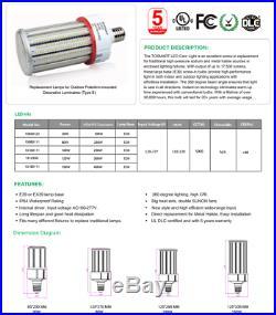 LED Corn Lamp Light 60/80/100/120/125/150 Watt Bulb E26 E39 Mogule
