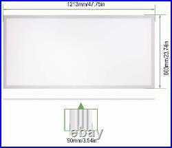 LED Flat Panel Light, 50W, 5500 Lumens, Ultra Thin Edge-Lit 2x4FT 4000K TWO-PACK