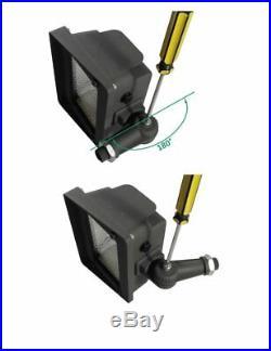 LED Flood Light, Dusk-to-Dawn Photocell, 180° Adjustable Knuckle, 50W 250W