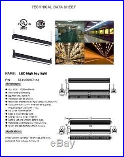 LED High Bay Light 200W Linear Industrial Warehouse Ceiling UL cUL DLC Dimmable