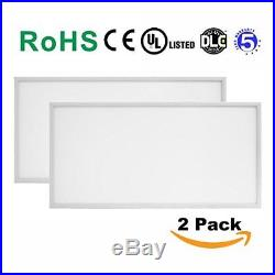 LED Panel Light 72W 4000K 2x4 Dimmable 2 PACK (Driver Included)