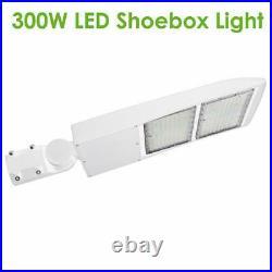 LED Parking Lot Light 150W 300W White Finish LED Shoebox Street lighting 5000K